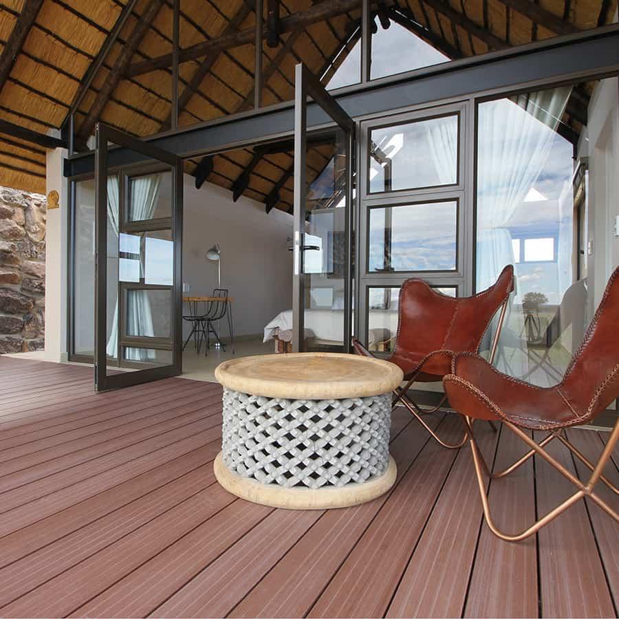 Babi-Babi Jagdsafari Namibia Private Terrasse - DE